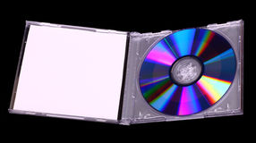 CD in a plastic box Royalty Free Stock Photo