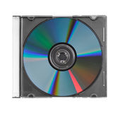 CD in plastic case. CD in clear plastic case isolated Stock Image