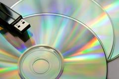 Cd Platten mit USB-Blinken Lizenzfreies Stockbild