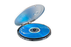 CD-player. With disk is photographed on a white background Stock Images
