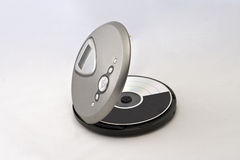 Cd player. Walkman, with white background Royalty Free Stock Photo