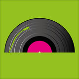 Cd player. Big cd player on green background Royalty Free Stock Photo