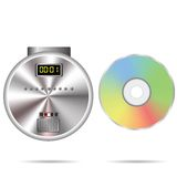 CD player and compact disc Royalty Free Stock Photography