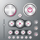 Cd player controls. A background of CD player controls Royalty Free Stock Image