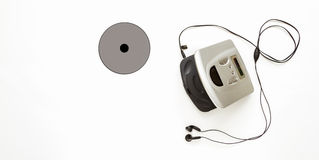 CD player on white background for listen. Stock Photos