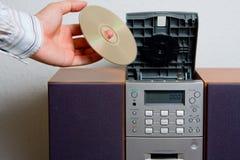 CD-Playermusikunterhaltung stockbilder