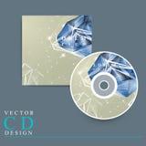 CD pokrywa z diamentowym elementem Obrazy Stock
