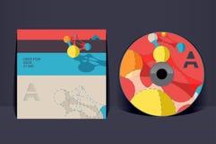 CD pokrywy projekta szablon Zdjęcia Stock