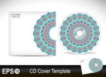 cd pokrywy projekta szablon również zwrócić corel ilustracji wektora Obrazy Stock