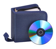 Cd with pouch Royalty Free Stock Images