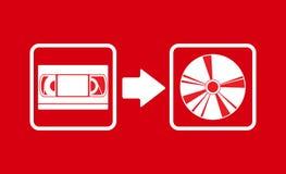 Cd pour transférer VHS de vecteur Photographie stock libre de droits