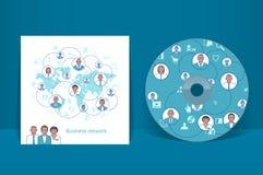 cd räkningsdesignmall white för bakgrundsaffärsnätverk Royaltyfria Foton