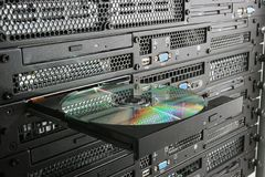 CD in the rack Stock Photography