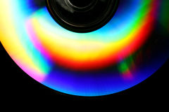 CD Rainbow Background Stock Photo