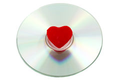 CD and red heart Royalty Free Stock Photo