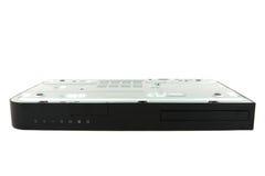 CD, reprodutor de DVD de cabeça para baixo com isolado no fundo branco Foto de Stock