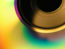 Cd-rom. Close-up of a cd-rom with colourful abstract impression Royalty Free Stock Photos