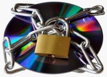 锁着的CD-ROM 库存图片