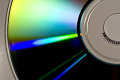 CD-ROM. Reflections of colors on the surface of a CD-ROM Royalty Free Stock Images