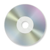 CD rom. A CD rom isolated on white Royalty Free Stock Photos