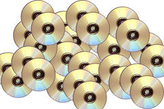 Cd rom. Scattered data Royalty Free Illustration