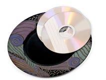 CD-ROM auf Platte Stockfotos