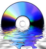Cd rom background. Fine abstract image of cdrom stock photo