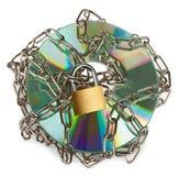 CD-ROM bloqueado imágenes de archivo libres de regalías