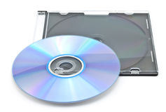 CD-ROM in a box. On a white background Royalty Free Stock Image