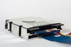 CD-ROM con i cavi Fotografia Stock Libera da Diritti