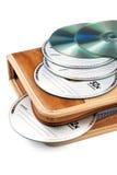 CD-ROM con la bolsa Imagen de archivo libre de regalías