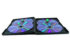 CD-ROM cuatro en un rectángulo negro Fotografía de archivo