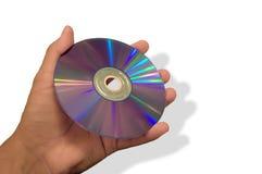 CD-ROM da terra arrendada do homem imagens de stock royalty free