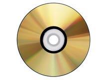 CD-ROM del oro aislado Imágenes de archivo libres de regalías