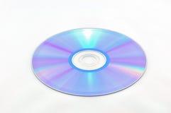 CD-rom die op wit wordt geïsoleerd Stock Foto