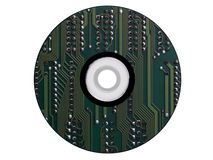 CD-rom die van een elektronische regeling wordt gemaakt royalty-vrije stock foto's