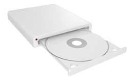 CD-ROM in drive Royalty Free Stock Image