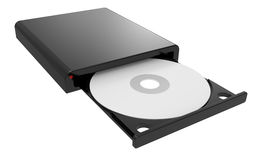 CD-ROM in drive Royalty Free Stock Images
