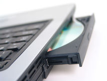 CD-ROM drive with CD Royalty Free Stock Photo