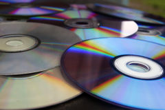 CD ROM. DVD, information technology type background computer memory storage progress Stock Images