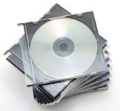 CD-rom in een doos Stock Afbeeldingen