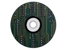 CD-ROM hecho de un esquema electrónico Fotos de archivo libres de regalías