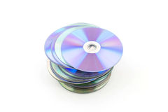 CD rom isolated on white Royalty Free Stock Images