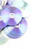 CD rom isolated on white Stock Images