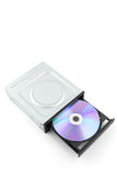 CD rom isolated on white Stock Image