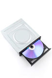 CD rom isolated on white Royalty Free Stock Photos