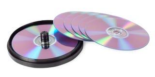 CD-rom met een pen Royalty-vrije Stock Afbeelding