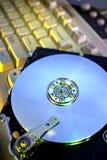 CD-ROM mit Tastatur Lizenzfreie Stockbilder