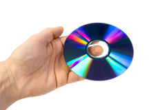 CD ROM on the palm. Royalty Free Stock Images
