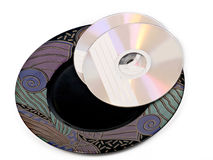Cd-rom on plate Stock Photos